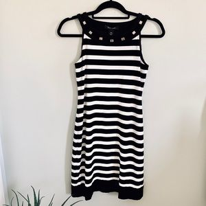 XXS White House Black Market Striped Sheath Dress